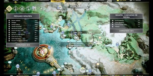 Cascadas de piedra en God of War (PS4): TODOS los coleccionables y secretos