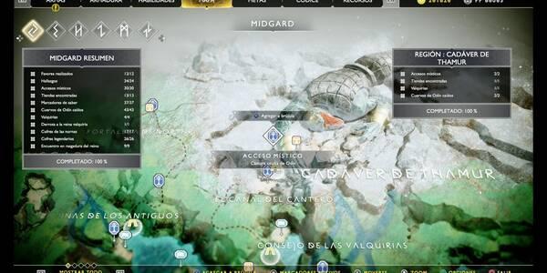 Cadáver de Thamur en God of War (PS4): TODOS los coleccionables y secretos