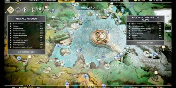 Costas / Lago de los Nueve en God of War PS4: TODOS los coleccionables