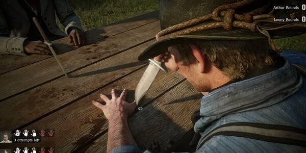 ¿Cómo jugar al Juego del cuchillo en Red Dead Redemption 2? - TUTORIAL