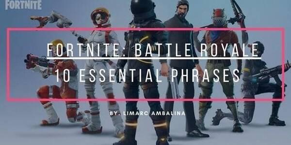 Diccionario de términos y frases en Fortnite Battle Royale