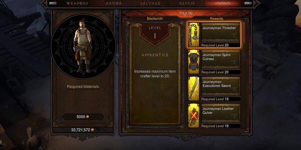 Todo sobre los artesanos en Diablo III: Eternal Collection para Switch