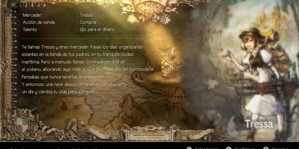 Modo historia: Todos los capítulos de Tressa en Octopath Traveler