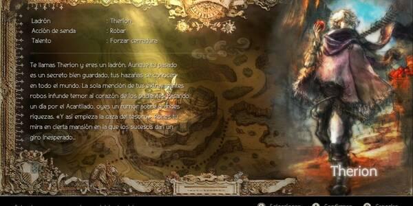 Modo historia: Todos los capítulos de Therion en Octopath Traveler