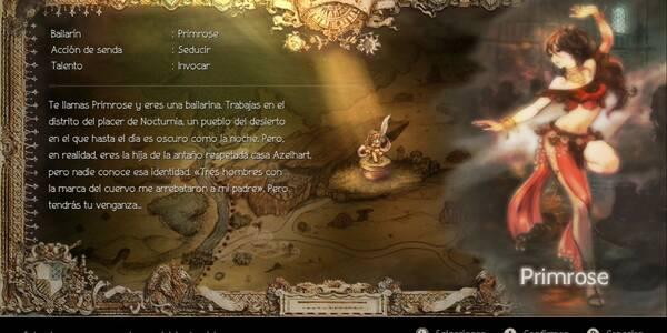 Modo historia: Todos los Capítulos de Primrose en Octopath Traveler