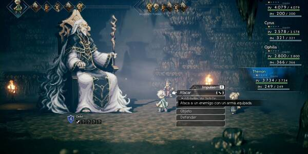 Santuario del Archimago y derrotar a Dreisang - Octopath Traveler