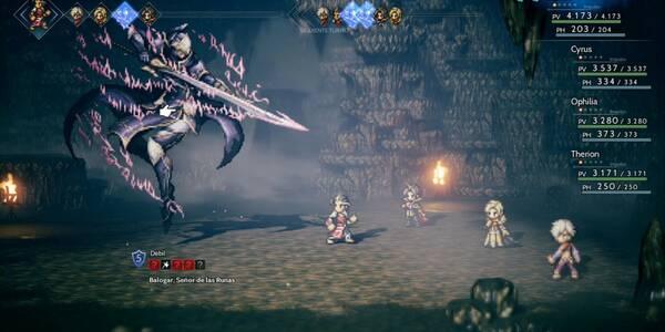 Santuario de la Hoja Rúnica y derrotar a Balogar - Octopath Traveler