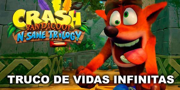 Truco de vidas infinitas en Crash Bandicoot N Sane Trilogy
