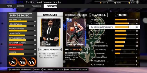 Todo sobre el modo Mi Equipo en NBA 2K19