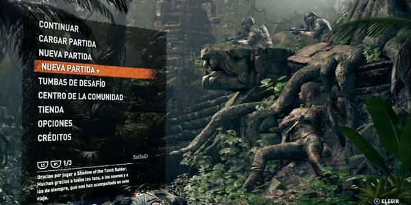 Nueva partida+ en Shadow of the Tomb Raider - Cómo iniciar y sendas