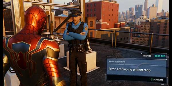 Error: archivo no encontrado en Spider-Man (PS4): cómo completarla - Misión secundaria