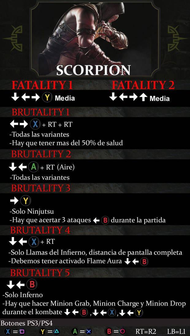 mortal kombat xl fatalities codes xbox one