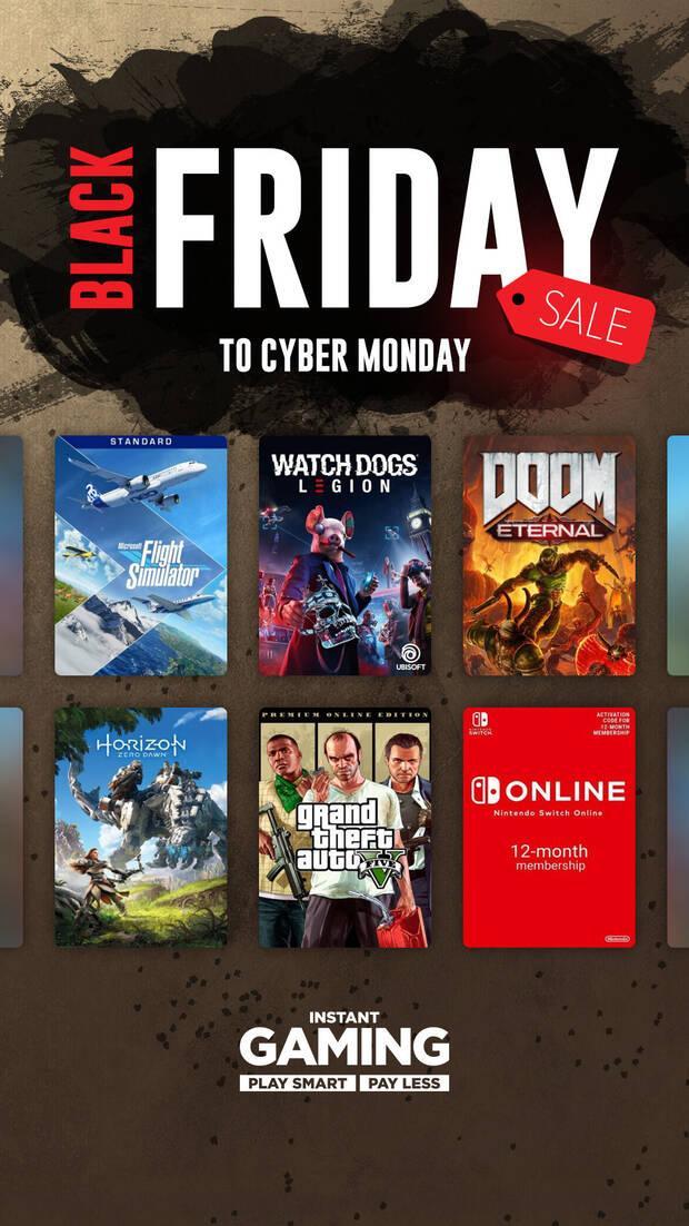 Ofertas del Black Friday en Instant Gaming