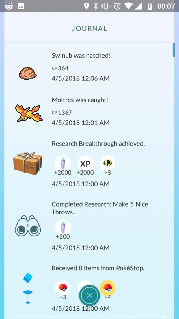 Pokémon GO te ofrece una recompensa Legendaria tras completar sus misiones Imagen 3