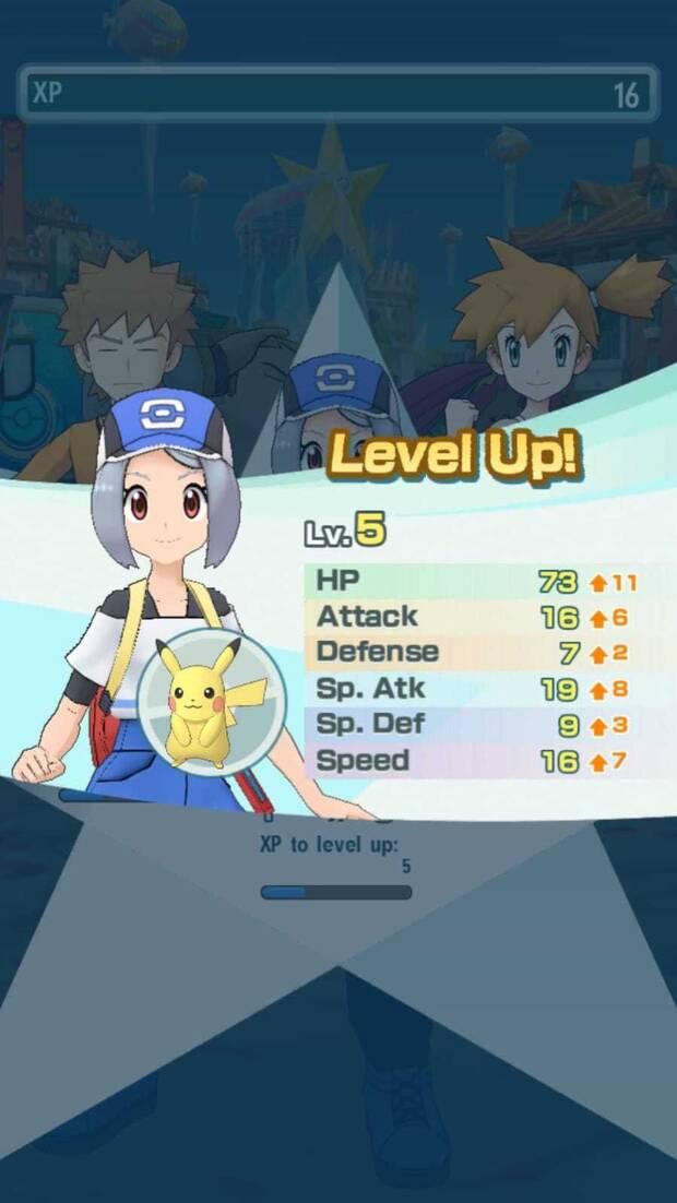 Pokémon Masters - Cómo funcionan los combates: pantalla de recompensas de combate