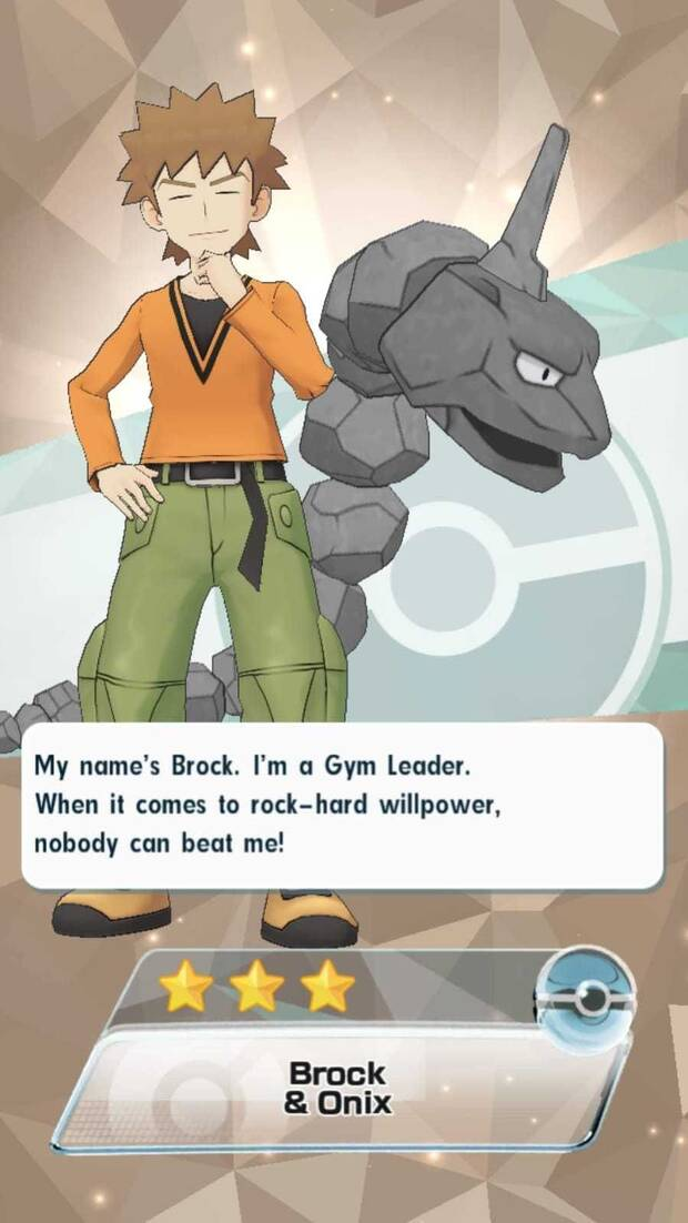 Pokémon Masters - Brock y Onix