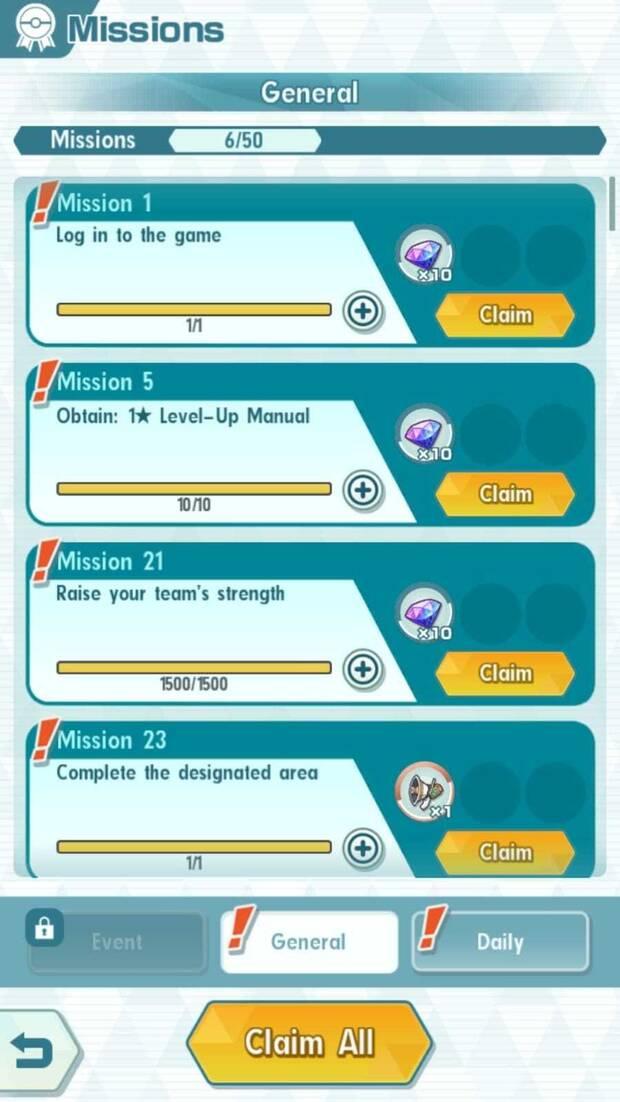 Pokémon Masters - Misiones