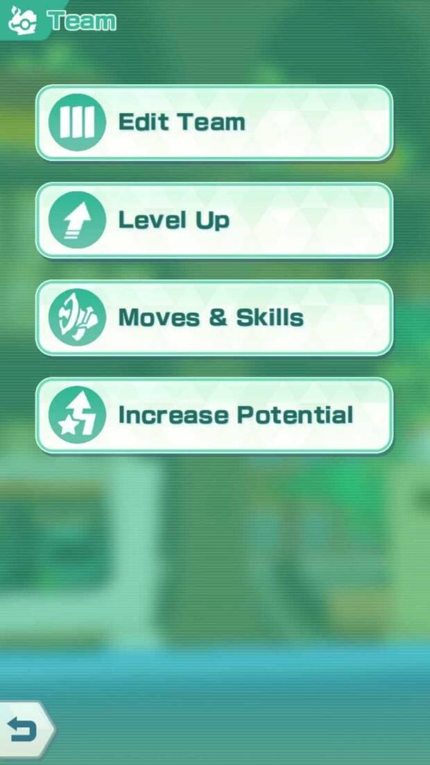 Pokémon Masters - Cómo aprender nuevas habilidades: menú de selección