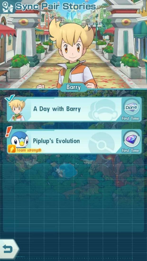 Pokémon Masters - Cómo evolucionar pokémon: pantalla de misión de evolución