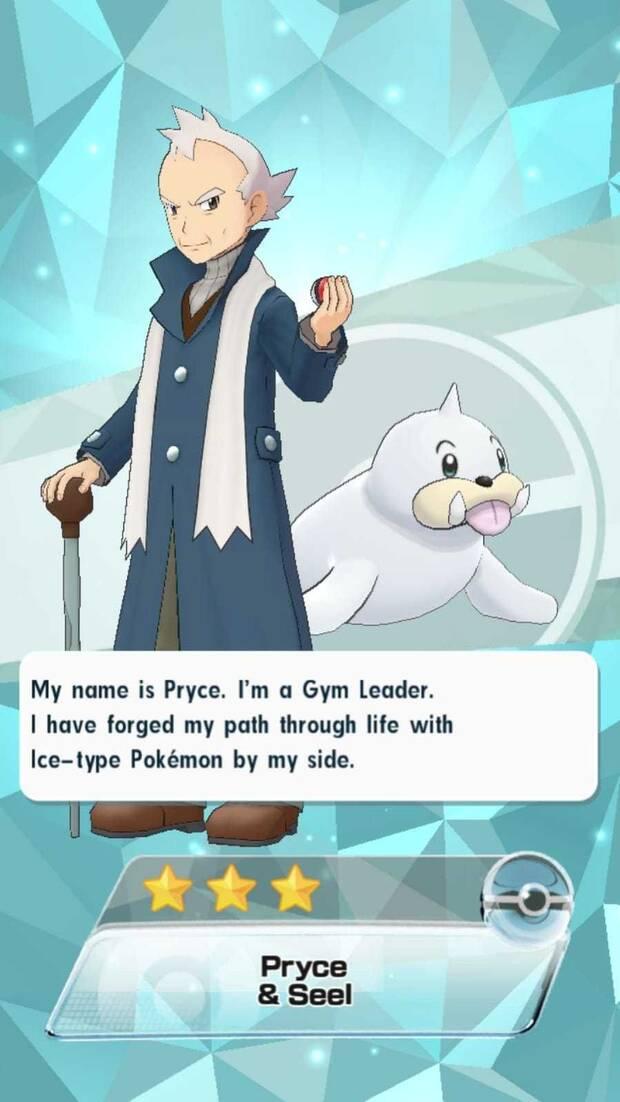 Pokémon masters - Pokémon y entrenadores: Pryce y Seel