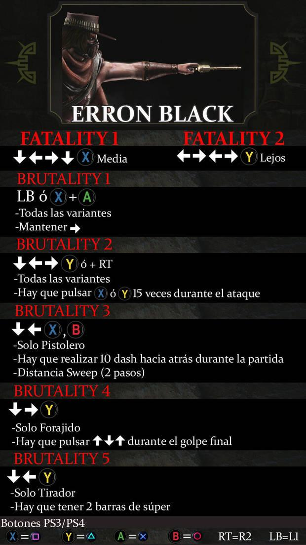 Erron Black Mortal Kombat X - Guía