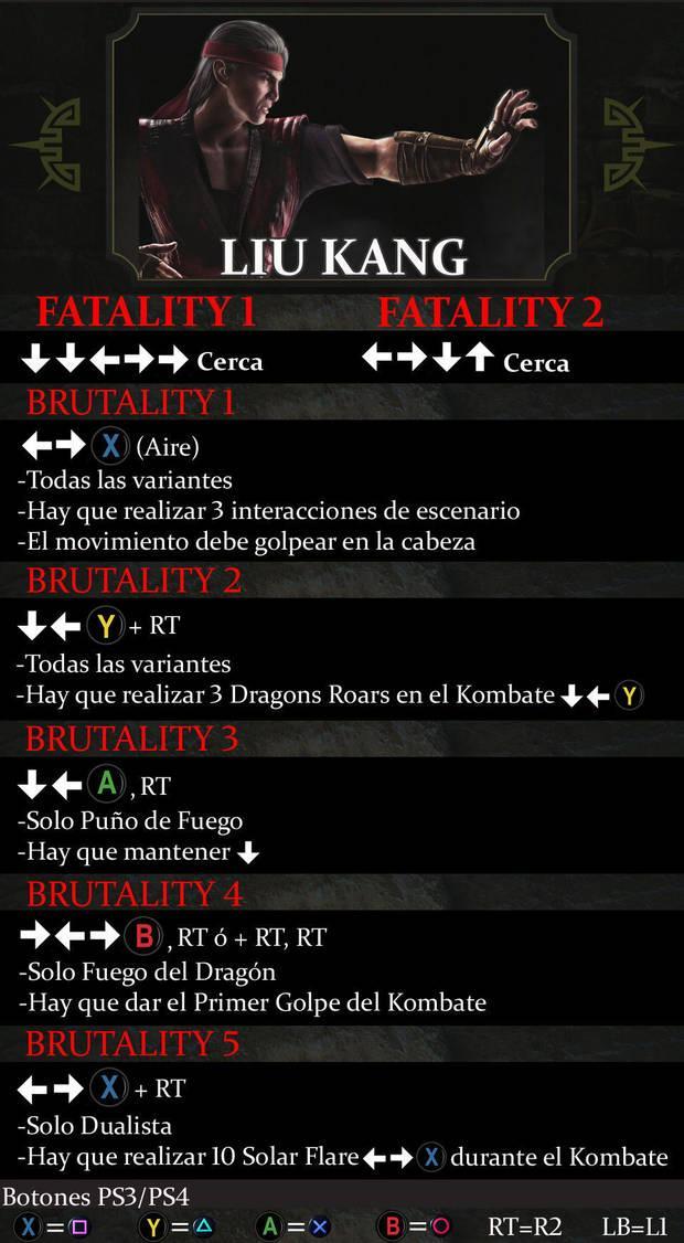 Liu Kang Mortal Kombat X - Guía