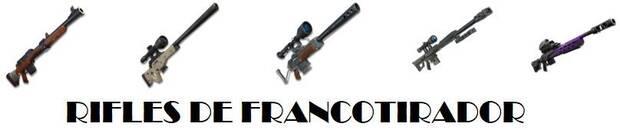 Fortnite - Armas: Rifles de francotirador