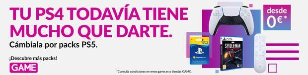 Pack de Bienvenida destacado al cambiar PS4 en GAME.