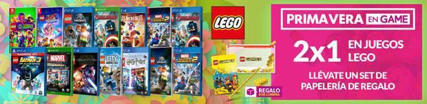 2X1 en juegos de LEGO en las ofertas de primavera de GAME.