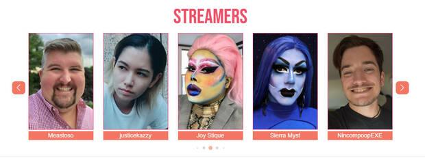 Streamers that participate