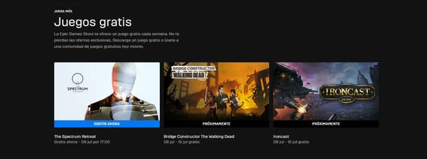 New free games on the Epic Games Store.