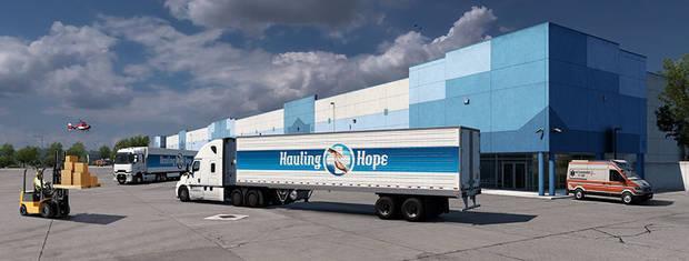 Transporter des camions événementiels Hope dans Euro Truck Simulator 2.