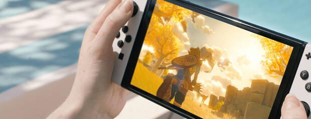 OLED screen of the new Switch.