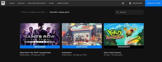 Juegos gratis de septiembre en Epic Games Store.