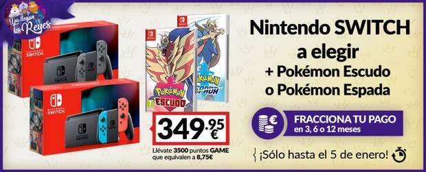 Oferta pack Nintendo Switch GAME