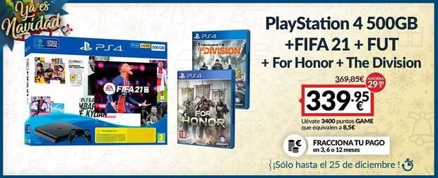 Pack de PS4 de oferta en GAME.