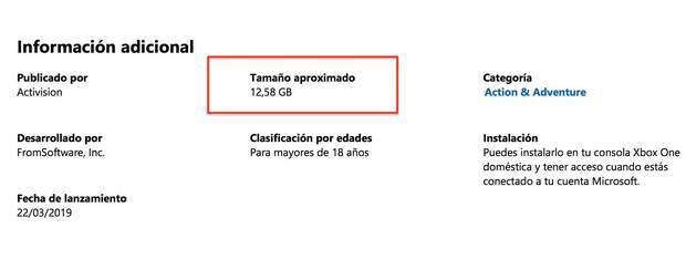 Sekiro: Shadows Die Twice ocupará 12,58 GB en Xbox One Imagen 2