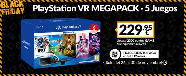 PlayStation VR en el Black Friday de GAME