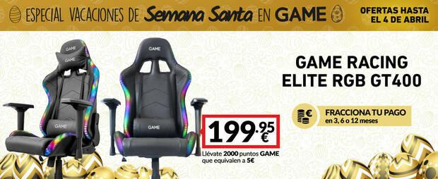 Offer on the Racing Elite RGB GT400 gaming chair