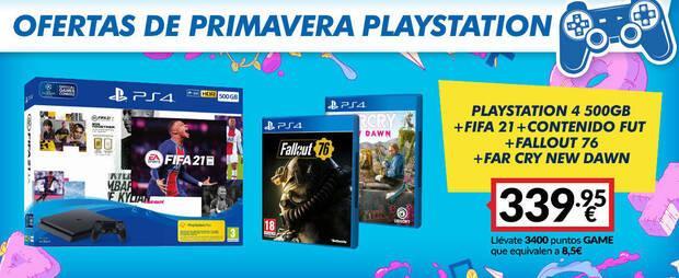 Ofertas de packs de consola en GAME de PlayStation