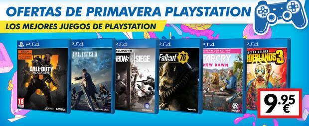 Ofertas de primavera en GAME con PS4