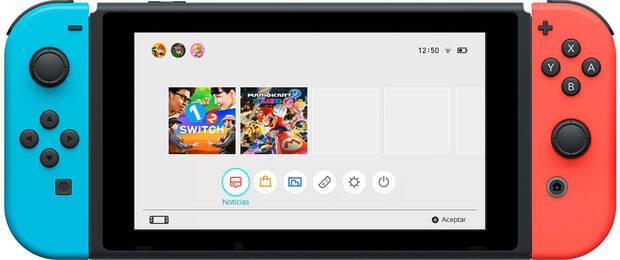 Mostrado el menú principal de Nintendo Switch Imagen 2
