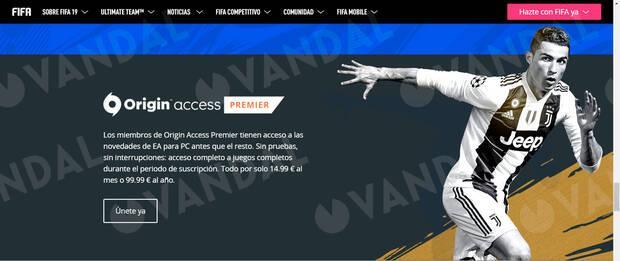 EA Sports elimina silenciosamente a Cristiano Ronaldo de la web de FIFA 19 Imagen 4