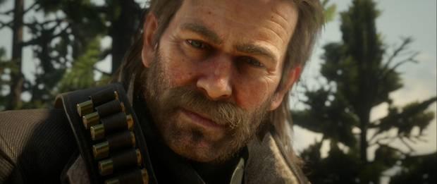 Red Dead Redemption 2 - Primer plano de Arthur Morgan