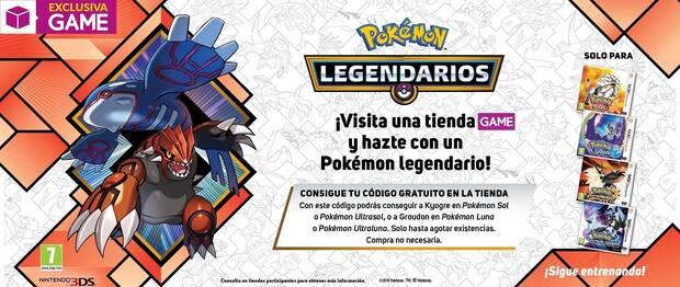 Los Pokémon Legendarios Groudon y Kyogre llegan gratis a GAME Imagen 2