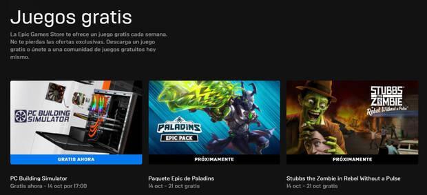 Juegos gratis de esta semana en Epic Games Store.