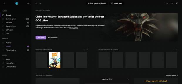 The Witcher PC gratis GOG Galaxy
