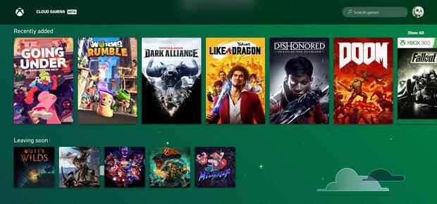 Captura de Xbox Cloud Gaming en PC con Windows 10.