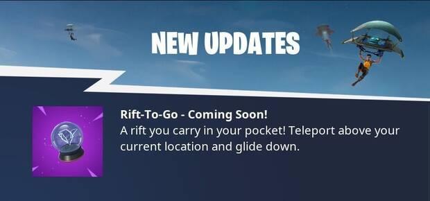 Fortnite añade un nuevo portal de teletransporte portátil Imagen 2