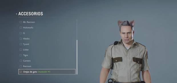 Resident Evil 2 Remake - Orejas de gato